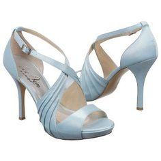 Women's Jen & Kim for Coloriffics Luna Bridal Blue Satin FamousFootwear.com