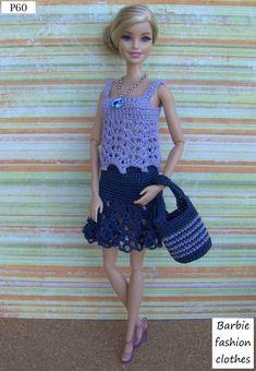 Irresistible Crochet a Doll Ideas. Radiant Crochet a Doll Ideas. Barbie Knitting Patterns, Barbie Patterns, Barbie Gowns, Barbie Dress, Cute Crochet, Beautiful Crochet, Crochet Toys, Fashion Dolls, Fashion Outfits