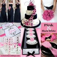 BODAS blanco, negro y rosado - Buscar con Google