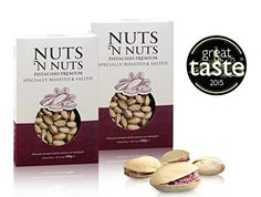 Pistachio Nuts. Shelled Premium Dry Pistachios Specially Roasted and Salted Nuts. Winners of the British Great Taste Awards 2015. A Wonderful Healthy Nutritional Snack of Excellent Quality. One Pack of 2 x 230gr. Nuts n' Nuts http://www.amazon.co.uk/dp/B0147TQUN0/ref=cm_sw_r_pi_dp_fE2zwb17DARY5