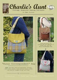 Rural Correspondent Messenger Bag Pattern in PDF