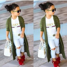 Cute kids clothing styling ideas Just Trendy Girls - April 28 2019 at Cute Little Girls Outfits, Kids Outfits Girls, Toddler Girl Outfits, Cute Kids Fashion, Little Girl Fashion, Toddler Fashion, Trendy Kids, Stylish Kids, Outfits Niños