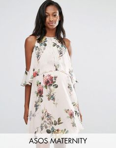 Get this Asos Maternity's mini dress now! Click for more details. Worldwide shipping. ASOS Maternity Floral Mini Dress With Extreme Cold Shoulder - Multi: Maternity dress by ASOS Maternity, Lightweight lined woven fabric, Floral print, High round neckline, Extreme cold shoulder cut, Ruffle overlay, Stretch waist, Zip-back fastening with hook and eye closure, Regular fit - true to size, Designed to fit through all stages of pregnancy, Machine wash, 100% Polyester, Our model wears a UK 8/EU…