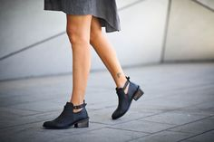 25% Christmas Sale, Angelica, Black Heeled Boots, Ankle Boots, Black Leather Booties, Buckle Boots, High Heel Winter Shoes
