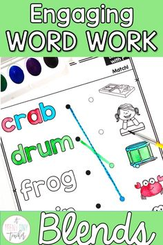 This no prep watercolor phonics resource is perfect way to get students practicing phonics and work on their developing fine motor skills. For each beginning blend, there are multiple activities and different printables for a total of over 30 pages of fun. Perfect for centers, word work, early finishers, Fun Friday, or a whole class activity. Your kinders, 1st, and 2nd graders will love this no prep engaging blends word work activity.