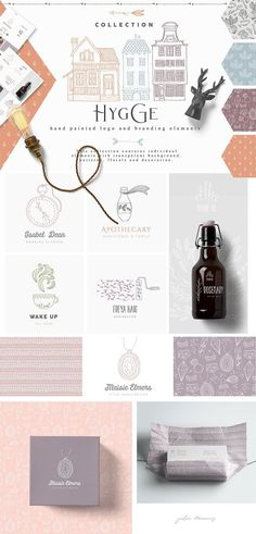 Hand painted logos and branding elements on Creative Market. Digital design goods for personal or commercial projects. Graphic design elements and resources. Watercolor Wedding, Watercolor And Ink, Pencil Illustration, Graphic Illustration, Illustrations, Hygge, Web Design, Graphic Design, Email Design