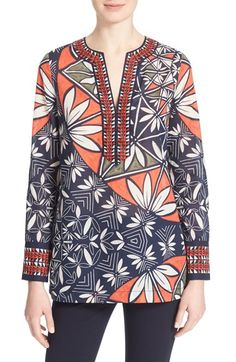 TORY BURCH Print Cotton Tunic. #toryburch #cloth #