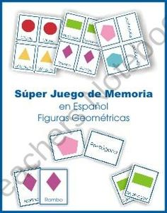 Shapes Memory Game in Spanish product from The-Hundred-Languages on TeachersNotebook.com