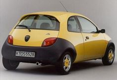 Ford Ka Yellow With Black Bumpers