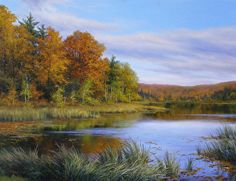Autumn on Wolcott Pond by Andrew Orr Oil ~ 24 x 18