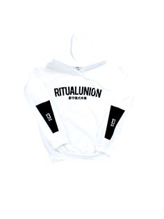 Ritual Union White Curve Hoodie #streetwear #streetwearfashion #street #streetstyle #veryrare #menswear #supremenyc #pigalle #outfitoftheday #pyrex #pyrexvision #beentrill #givenchy #supreme #balmain #hba #hoodbyair #rhude #hypebeast #outfitgrid #ktz #kanyewest #yeezy #yeezus #asaprocky  #blackfashion #givenchy #mensfashion #highsnobiety