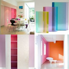 #DécorTrends! Defined Colour Flow. This trend is an evolution and step forward from the ombre trend and consists of colours seamlessly flowing from one hue into the next.