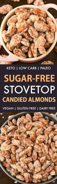 Easy Sugar-Free Candied Almonds (Keto, Low Carb, Paleo)- Recipe on thebigmansworld.com