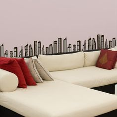 Skyline wall sticker