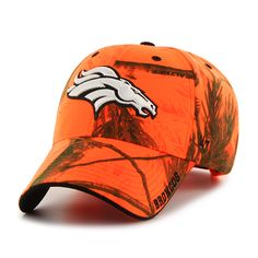 1c65ea77 Denver Broncos Realtree Frost Blaze Orange Realtree 47 Brand Adjustable Hat