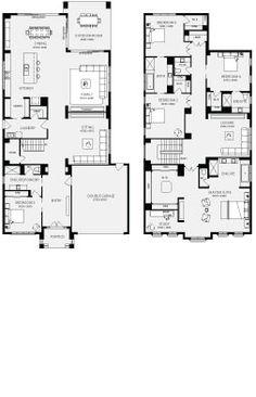 Bordeaux, Unit Floor Plans, Multi Dwelling House Plans - Metricon Homes - Melbourne. Love the master suite. Beach House Plans, New House Plans, Dream House Plans, Modern House Plans, Small House Plans, House Floor Plans, Bedroom Floor Plans, House Layout Plans, House Layouts