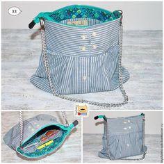 Aprende hacer bonitos e originales bolsos con las mangas de una camisa. Imagina la cantidad de bolsos diferente que puedes hacer, para combinar con cualquier look. Una manera maravillosa de recicla…