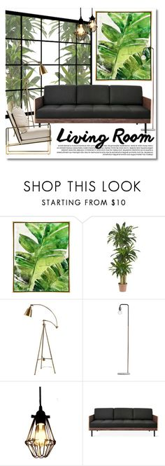"""""""Living room"""" by miee0105 ❤ liked on Polyvore featuring interior, interiors, interior design, ev, home decor, interior decorating, Barclay Butera, Nearly Natural, Gus* Modern ve living room"""