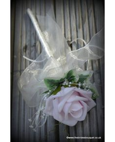Coloured Rose Childs Flowergirl Wand available in any coloured rose for just £8