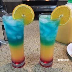 Barbados Surprise Cocktail - For more delicious recipes and drinks, visit us here: www.tipsybartender.com
