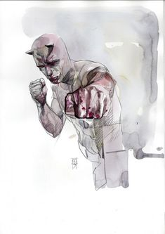 Drawing Marvel - Watercolor comic book paintings by Alex Maleev - Alex Maleev is a Bulgarian-born comic book illustrator. Comic Book Artists, Comic Book Characters, Comic Artist, Comic Books Art, Marvel Comics, Marvel Art, Ms Marvel, Marvel Heroes, Captain Marvel