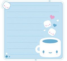 Free Printable Kawaii Coffee Memo Sheet and Envelope Free Printable Stationery, Printable Paper, Free Printables, Kawaii Stationery, Korean Stationery, Cute Stationary, Planner Decorating, Writing Paper, Note Paper