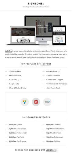 Buy LightOne - Onepage Parallax WordPress Theme by ThemeXoda on ThemeForest. Web Themes, Website Themes, Modern Website, Wordpress Website Design, Say Hello, Website Template, Wordpress Theme, Templates, Feelings