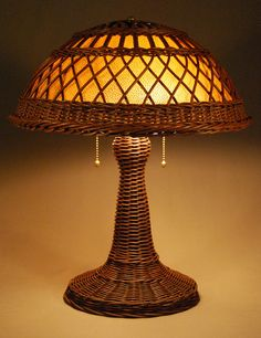 Silver Bay Wicker Studio - Handcrafted Wicker Lamps - Victor Style