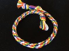 Day 3: Rainbow Kumihimo Bracelet! Find out how at http://friendship-bracelet-blog.myfbm.com/rainbowchallenge/day-3/ and submit yours #myfbm #rainbowchallenge for a chance to win!