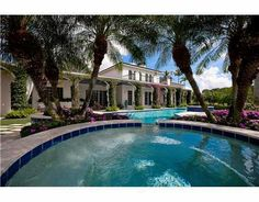Palm Beach Polo & Country Club bougainvillea draped estate