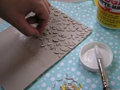 Awesome tutorial for home made texture plates. This would work to run through the mill? She uses paper punches as material cereal boxes, good idea.