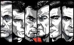 Finally finished all my Bond prints - I'll get the full portraits up here shortly, but here's a group shot for u in the meantime!