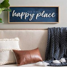 Bring charm and joy to your space with our Navy This is Our Happy Place Plaque! This framed plaque celebates your home in modern farmhouse style. Modern Farmhouse Style, Farmhouse Decor, Farmhouse Remodel, White Farmhouse, Navy Home Decor, White Decor, Kirkland Store, Kirkland Home Decor, Navy Kitchen
