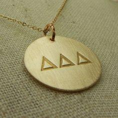 Tri Delta Gold Filled Necklace