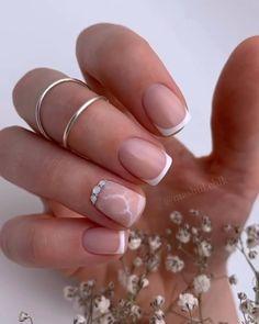 Marble Nail Designs, French Nail Designs, Nail Art Designs, Gel Manicure Designs, Nail Manicure, Gel Nails, Nail Polish, Essie Gel, Summer Acrylic Nails