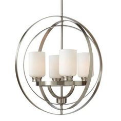 $248 Living room? Home Decorators Collection 4-Light Brushed Nickel Chandelier-7900HDC - The Home Depot