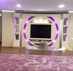 12 capricious TV wall units with Led lighting that you must see right now! Tv Wall Design, Tv Unit Design, Tv Wall Decor, Ceiling Decor, Modern Tv Wall Units, Tv Wand, False Ceiling Design, Best Tv, Cheap Home Decor