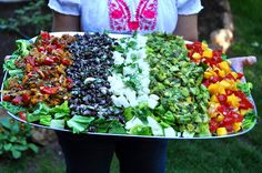 Fietsa Salad with WOW  bed of romaine topped with 5 mixes!