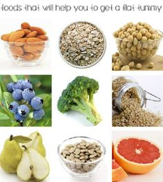 flat tummy foods