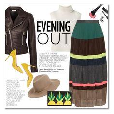 """Evening out"" by galina-gavrailova ❤ liked on Polyvore featuring mode, Janessa Leone, Étoile Isabel Marant, Kolor, Balenciaga, Manolo Blahnik, Kate Spade, Bobbi Brown Cosmetics, women's clothing en women"