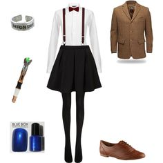 female 11th doctor by sweet-pastels on Polyvore featuring Ralph Lauren Blue Label, Topshop, Wolford, ALDO, Brooks Brothers, eleventh doctor, doctor who, doctor, 11th doctor and bbc