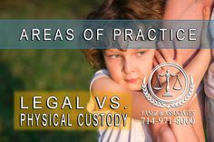 Legal vs physical custody in Orange County California. When a child custody agreement is created in California, it needs to include both kinds of custody Family Law Attorney, Attorney At Law, Child Custody Lawyers, Custody Agreement, Orange County California, Divorce, Physics, Children, Young Children