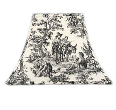 Toile Lamp Shade, Black Toile Lamp Shade, French Lamp Shade, French Country Lamp Shade - All For House İdeas Eclectic Lamp Shades, Eclectic Lamps, French Lamp Shades, Coral Lamp, Country Lamps, Natural Background, Kinds Of Fabric, Gothic House, Lamp Bases