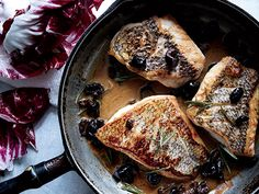 Black Bass Rosemary         Black Bass with Warm Rosemary-Olive Vinaigrette Recipe  | Epicurious.com