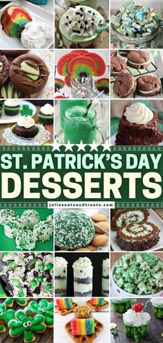 In search of green treats for St. Patrick's Day? Nothing lets you get ready for the celebration like this roundup of easy recipes from the best bloggers! Find everything you need, like desserts, snack mixes, and even drinks. There is something for everyone here! Yummy Treats, Delicious Desserts, Dessert Recipes, Yummy Food, Tasty, Irish Recipes, Easy Recipes, Easy Meals, Cooking Recipes