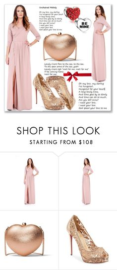 """""""Be mine"""" by kiveric-damira ❤ liked on Polyvore featuring MICHAEL Michael Kors, Christian Louboutin, Bling Jewelry and plus size dresses"""