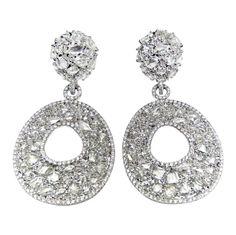 Rose Cut Diamond Earrings.