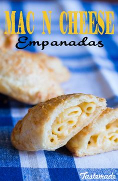 Say hello to Mac Daddy of empanadas. Mac N Cheese Empanadas - delicious cheesy pockets of goodness. Empanadas, Beef Recipes, Snack Recipes, Cooking Recipes, Cheese Recipes, Snacks, Sandwich Recipes, Healthy Recipes, Wontons
