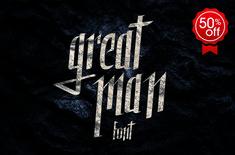 Great Man font by juanpablo.bello on @creativemarket