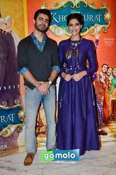 Fawad Khan & Sonam Kapoor at the Promotion of Hindi movie 'Khoobsurat' in Mumbai